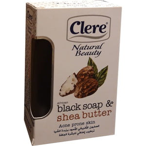 African Black Soap - Clere Natural Beauty Black Soap and Shea Butter 150 ml