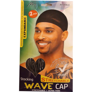 Murray Stocking Stretchable Wave Cap M1515BLK