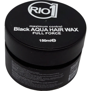 Rio One Black Aqua Hair Wax Full Force 150 ml