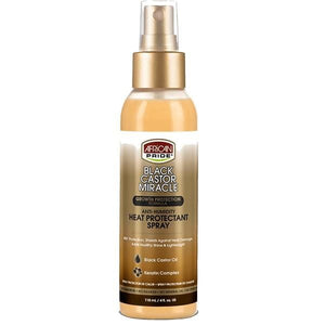 African Pride Black Castor Miracle Heat Protectant Spray 4oz