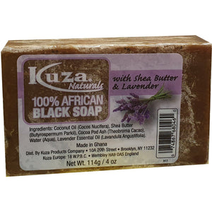 African Black Soap - Kuza Naturals 100% African Black Soap 114 g