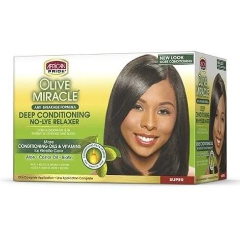 African Pride Deep Conditioning No Lye Relaxer Super