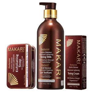 MAKARI INTENSE EXCLUSIEVE TONING MILK SOAP CREAM SET