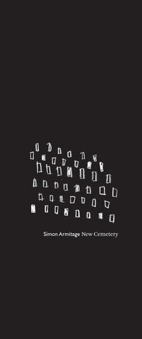 New Cemetery by Simon Armitage Pre-Order