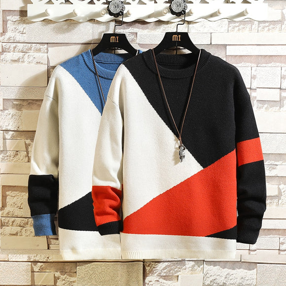Men'S Sweaters Spring Autumn Winter Clothes 2020 Pull OverSize 5XL 6XL 7XL Korea Style Casual Standard Pullovers