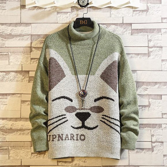 Men'S Sweaters Spring Autumn Winter Clothes 2021 Pull OverSize M-4XL 5XL Korea Style Casual Standard Pullovers