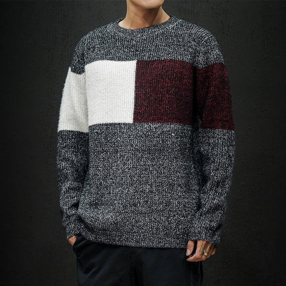 Christmas Men Sweaters Spring Autumn Clothes 2020 Plus Size Asian M-4XL 5XL 6XL Japan Style Casual Standard Designer Pullovers