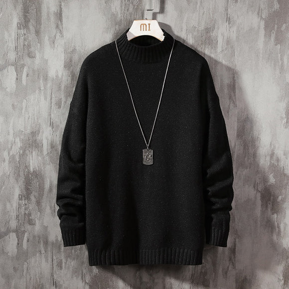 Men'S Black Sweaters Spring Autumn Winter Clothes 2020 Pull OverSize M-4XL 5XL Korea Style Casual Standard Pullovers