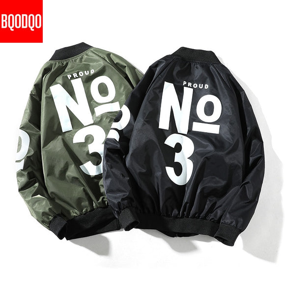 5XL Letter Print Bomber Jackets Coat Men Black Oversized Streetwear Autumn Military Mens Jacket Spring Army Green Casual Coats