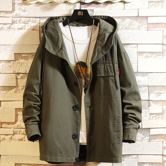 Men's Fashion Jacket Autumn Man Oversize Coat Casual 5XL Jacket for Men Men's Clothing Streetwear Army Green