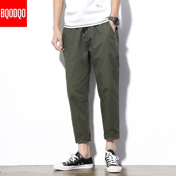 Army Green Casual Streetwear Pant Black Hip hop Fitness Military Japan Straight Trousers Men Fashion Joggers Harem Pants Autumn