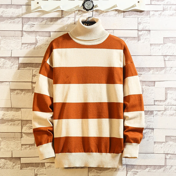 Christmas Knitted Long Sleeves Men'S Striped Sweaters Winter Clothes 2020 Japanese Style Casual Designer Oversize Pullovers