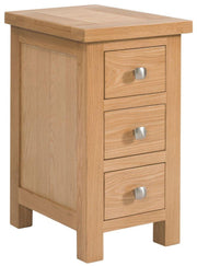 Derwent Narrow 3 Drawer Bedside Table