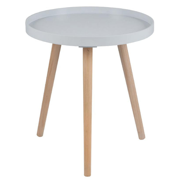 Grey MDF & Natural Pine Wood Round Table K/D