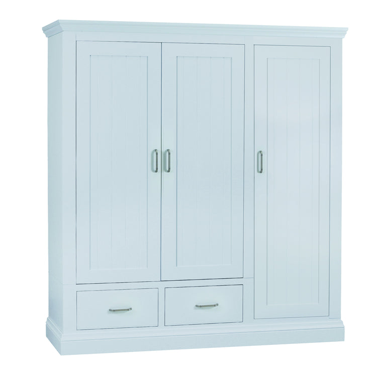 Colorado Fully Painted Wardrobe with 2 Drawers - Triple