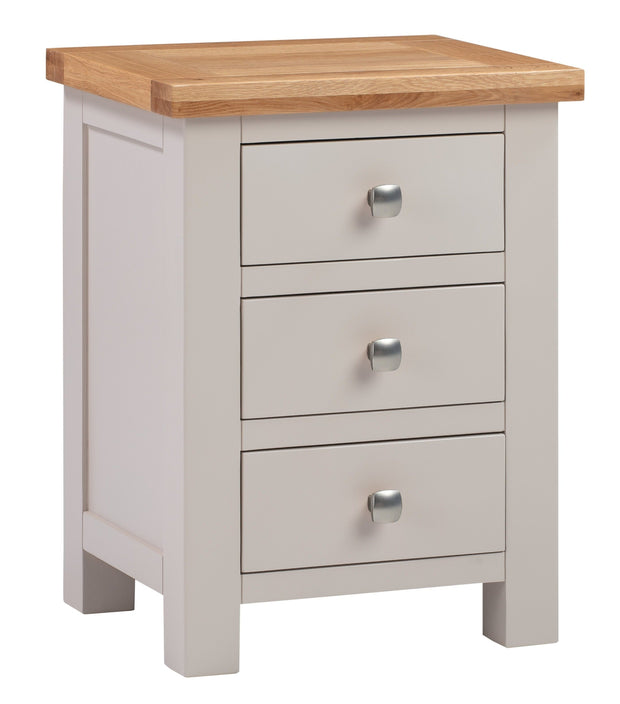 Derwent Painted Putty 3 Drawer Bedside Table