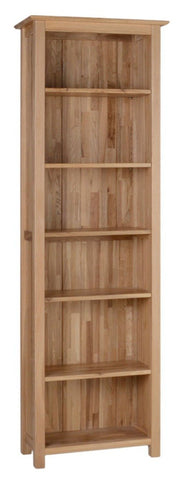 Blue Oak 6ft Narrow Bookcase