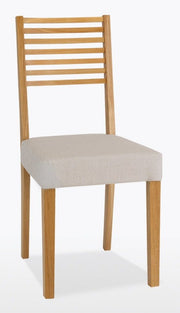 Wichita Ladder Back Low Chair (Seat in Leather)