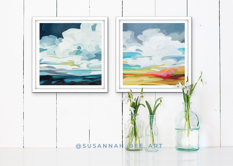 "Fine Art Prints from the ""Spring Skies"" collection by Canadian artist Susannah Bee"
