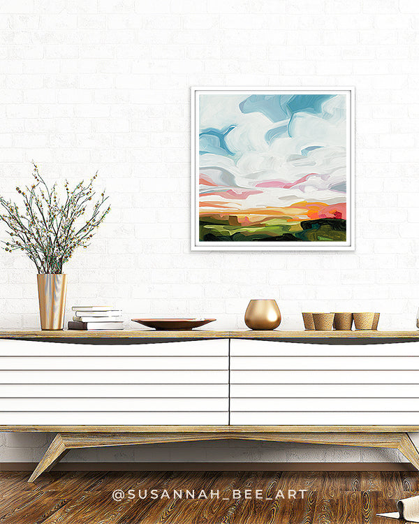 SusannahBee Fine Art Print 'California Dreaming 4' (blue) from the Spring Skies collection