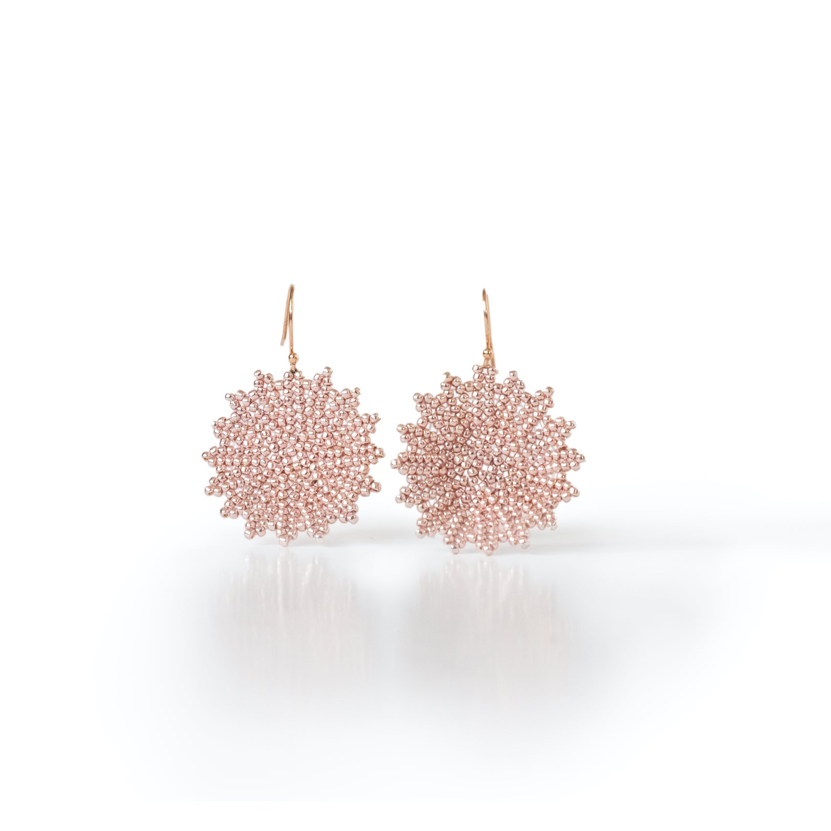 Rose Snowflake Earrings