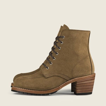 Women's Red Wing Clara - Olive Mohave Leather + Free Nubuck Cleaner Kit