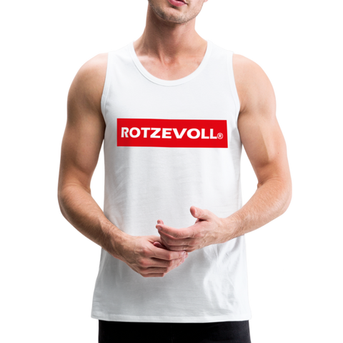 rotzevoll ® tanktop | red days - Weiß