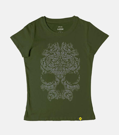 Another Skull | Women's Basic Cut T-shirt - Jobedu Jordan