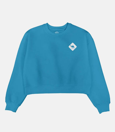 Jobedu Camel Crossing Icon | Women's Cropped Sweatshirt - Jobedu Jordan