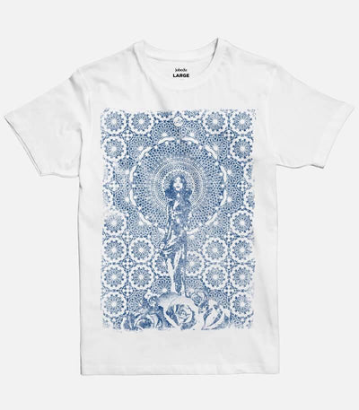 Sharqiyyeh - Blue Print | Men's Basic Cut T-shirt - Jobedu Jordan