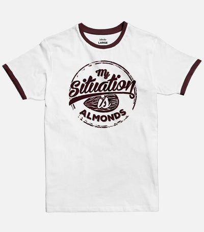 My Situation is Almonds | Men's Ringer T-shirt - Jobedu Jordan
