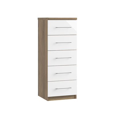 Catania 5 Drawer Narrow Chest