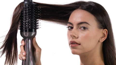how to straighten hair with blowout brush