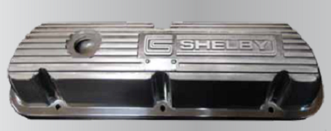 Shelby 289/351 Finned Valve Cover -Pair (Polished Finish)