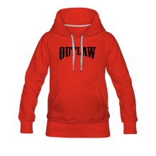 Load image into Gallery viewer, Women's Premium Hoodie Outlaw - red