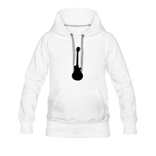 Load image into Gallery viewer, Women's Premium Hoodie guitar - white