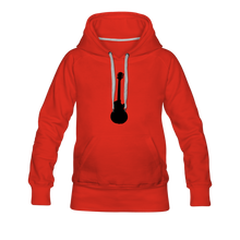 Load image into Gallery viewer, Women's Premium Hoodie guitar - red