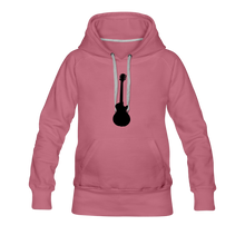 Load image into Gallery viewer, Women's Premium Hoodie guitar - mauve