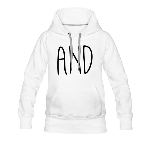 Women's Premium Hoodie and - white
