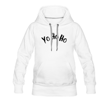 Load image into Gallery viewer, Women's Premium Hoodie yo ho ho - white
