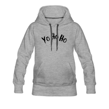Load image into Gallery viewer, Women's Premium Hoodie yo ho ho - heather gray