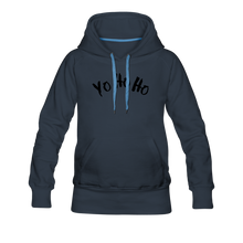 Load image into Gallery viewer, Women's Premium Hoodie yo ho ho - navy