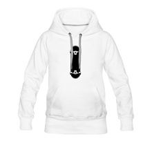 Load image into Gallery viewer, Women's Premium Hoodie skateboard - white