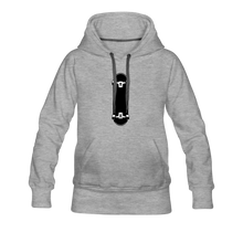 Load image into Gallery viewer, Women's Premium Hoodie skateboard - heather gray