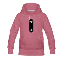 Load image into Gallery viewer, Women's Premium Hoodie skateboard - mauve