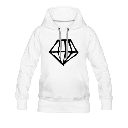 Women's Premium Hoodie diamond - white