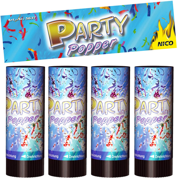 Party Popper 4er-Btl.