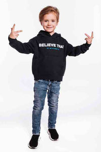 BELIEVE THAT KIDS HOODIE NAVY