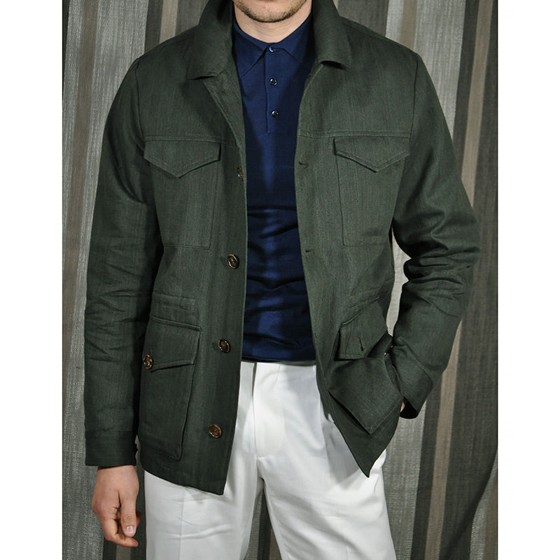 Valstar Men's Field Jacket Herringbone Military