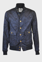 Valstar Valstarino Jacket Japanese Printed Cotton Marine/Navy